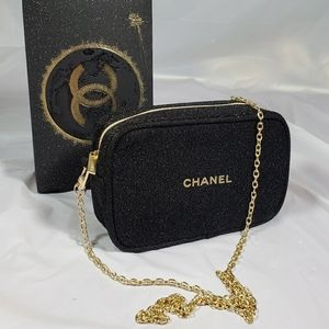 Brand new authentic Chanel holiday makeup pouch